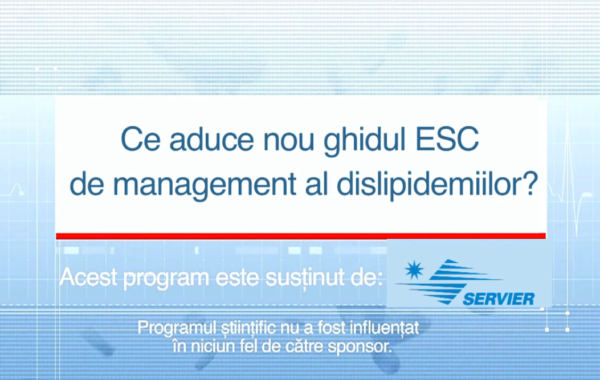 Curs: Ce ne aduce noul ghid ESC de management al dislipidemiilor